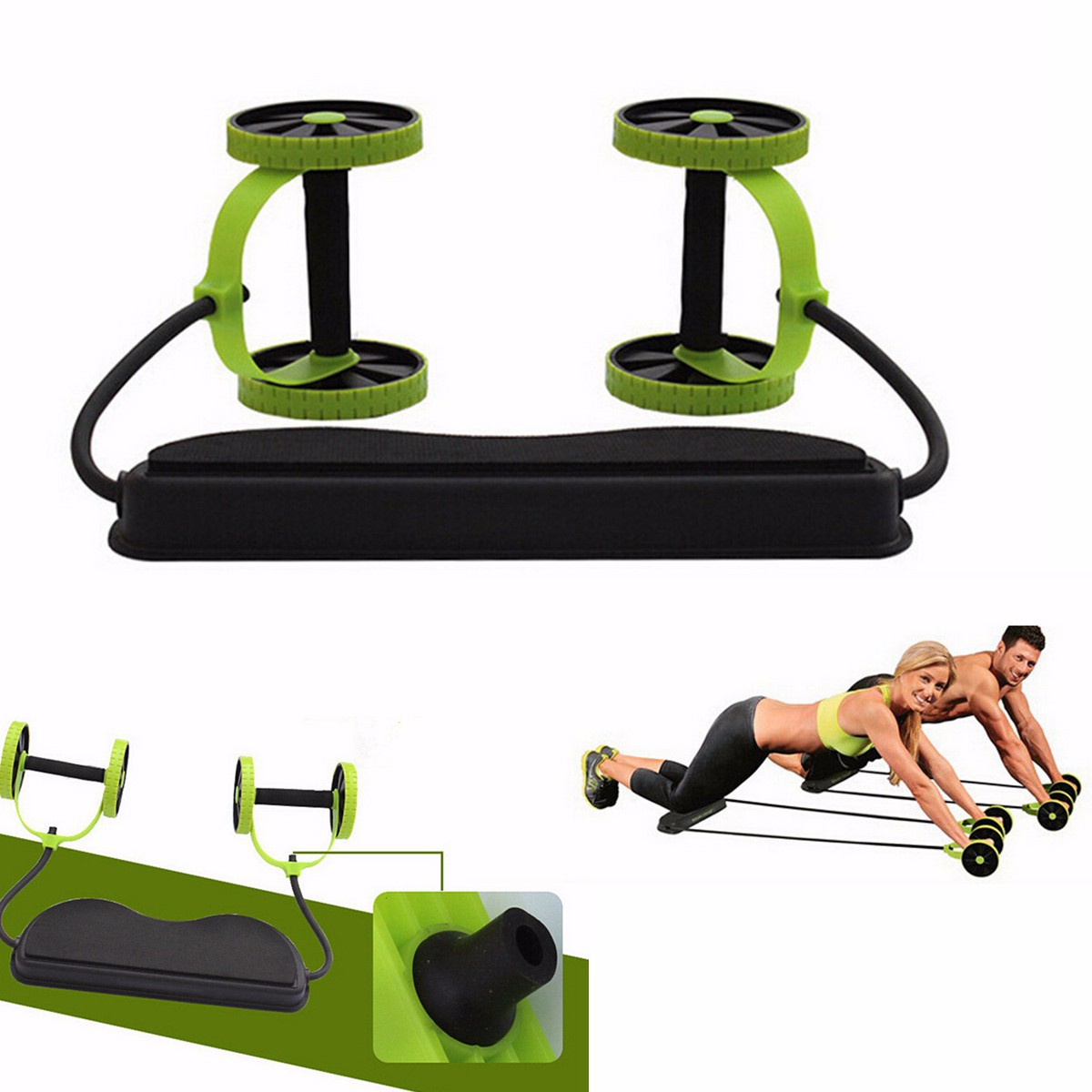 Ab Roller Abs Wheel Exercise Gym Roller Abdominal Core Fitness Muscle Trainer