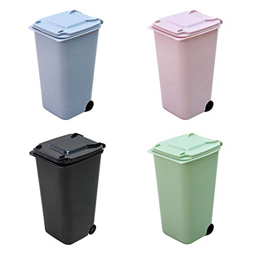 Buy Small Trash Can Mini Curbside Trash Bin With Lid Desk Organizer Garbage Bin Pen Holder Office Desktop Supplies Toy Small Kitchen Countertop Trash Recycling Containers Mini Wastebasket 4 Piece Set Online In Turkey B07y2zpwp4