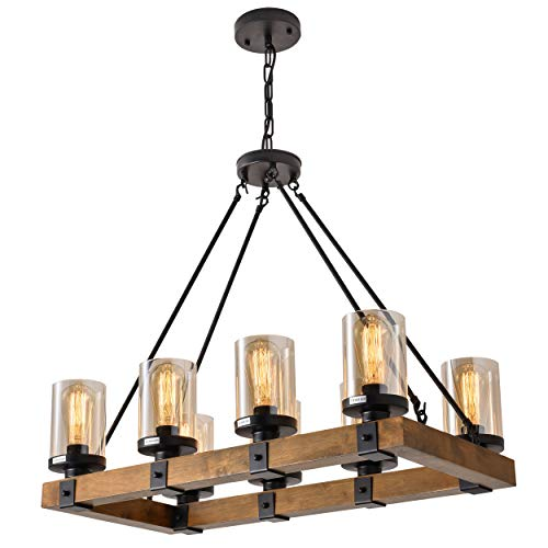 Buy 8 Light Wood Kitchen Island Wood Chandeliers Candle Pendant Light Pendant Lighting 480w Max Bulb Not Included Online In Turkey B07mw8c9pf