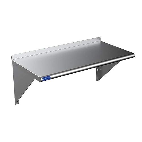 Buy Metal Shelf Stainless Steel Wall Mount Floating Nsf Shelving For Commercial Restaurant Kitchen Laundry Room Food Truck Online In Turkey B08wwv1sxr