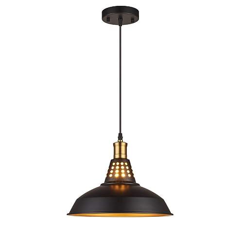 Buy Amabao Lighting 1 Light Matte Black Metal Industrial Barn Kitchen Island Pendant Light Fixture E26 7w Led Bulb Not Included Online In Turkey B07mdg9jyr