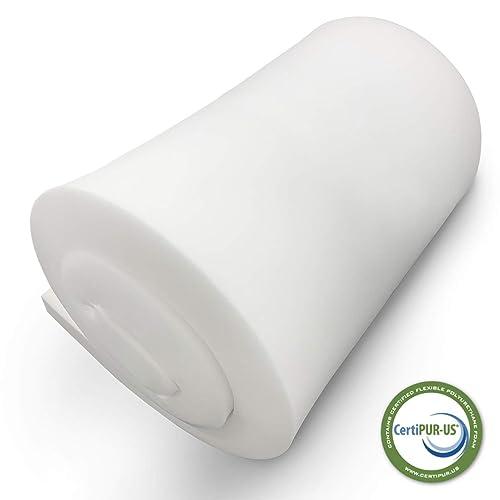 Upholstery Foam Cushion Made in USA Semi-Firm FOAMSPOT 1 Height x 24 Width x 54 Length 1.8 Density 36ILD