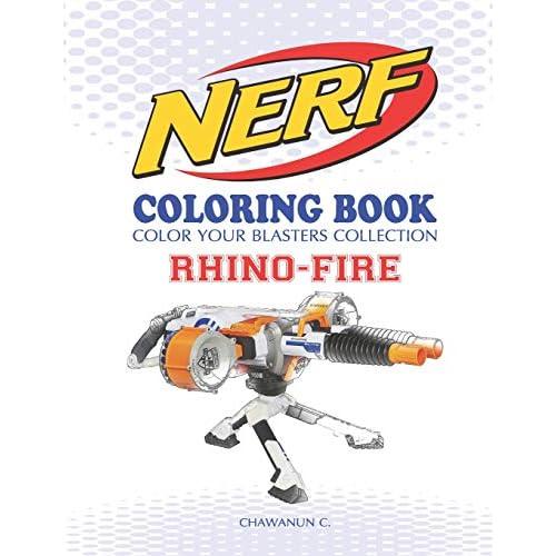 Nerf Boyama Kitabi Gergedan Ates Renkli Blasters Koleksiyonu N