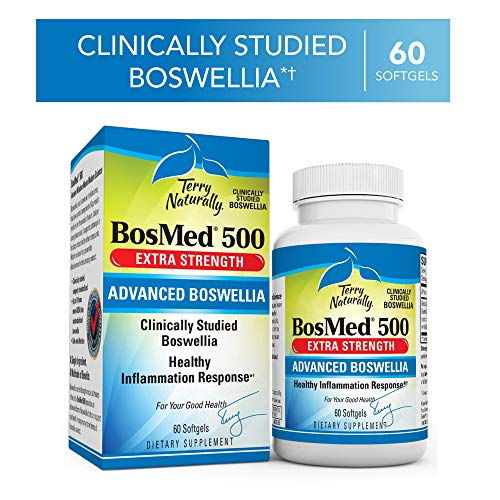 Terry Naturally Bosmed 500 500 Mg Boswellia 60 Softgels Clinically Studied Boswellia Supplement Supports Healthy Inflammation Response