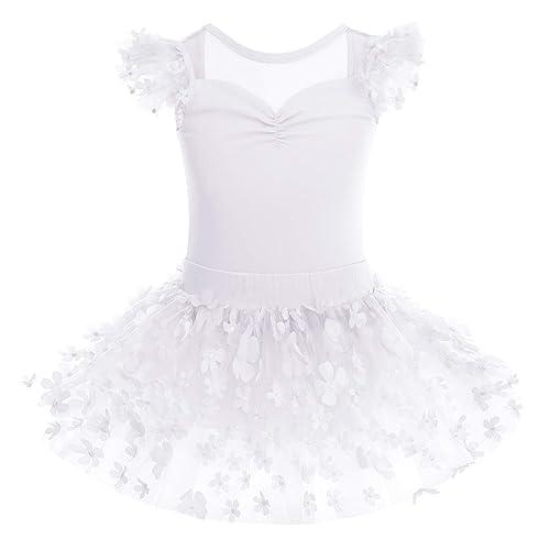 UK Girls Gymnastics Leotard Dress Ballet Leotard+Tutu Wrap Dance Skirt Dancewear