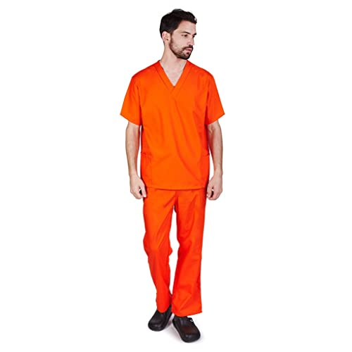 Details about  /M/&M SCRUBS Men Scrub Set Medical Scrub Top and Pants 2x Color Taupe