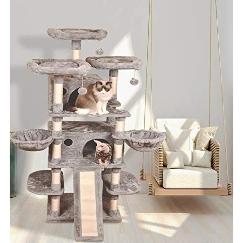 Sha Cerlin 68 Inches Multi Level, Cat Furniture For Large Cats