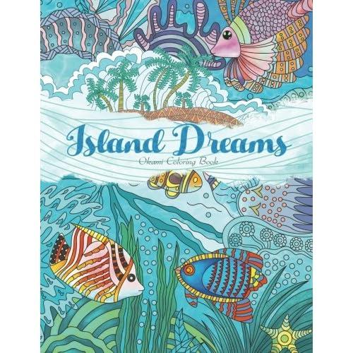 Yetiskinler Icin Boyama Kitabi Ada Ruyalar Tatil Yaz Ve Plaj