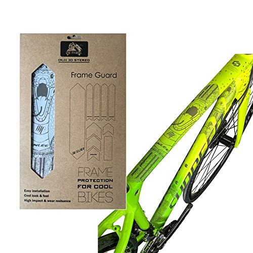 Bike Frame Sticker Mountain Bike Scratch Resistant Frame Protector B6V7