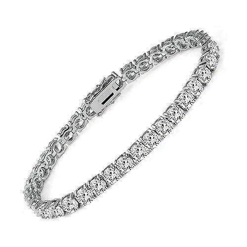 Ladies tennis bracelet cubic zirconia 9 carats silver 7 inch 7 or 8 inch 905