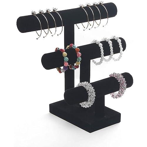 2pcs Velvet Bracelet Holder Vertical Bar Stand for Jewelry Organizer Display