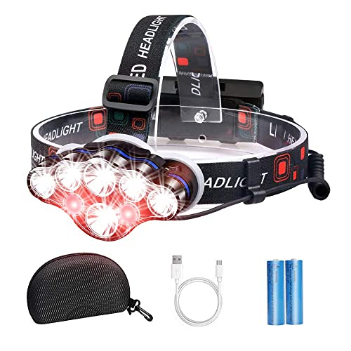 USB Rechargeable Headlamp Flashlight Headlight Head Band Waterproof Bright Lamp