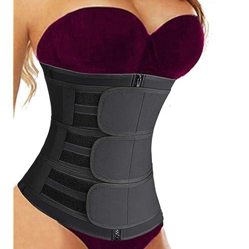 Long Torso Waist Trainer Body Shaper Corset Cincher Belt for Women Workout Gray