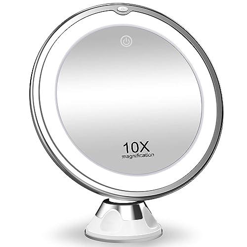 Koolorbs 10x Magnifying Makeup Mirror, Best Magnified Makeup Mirror Uk