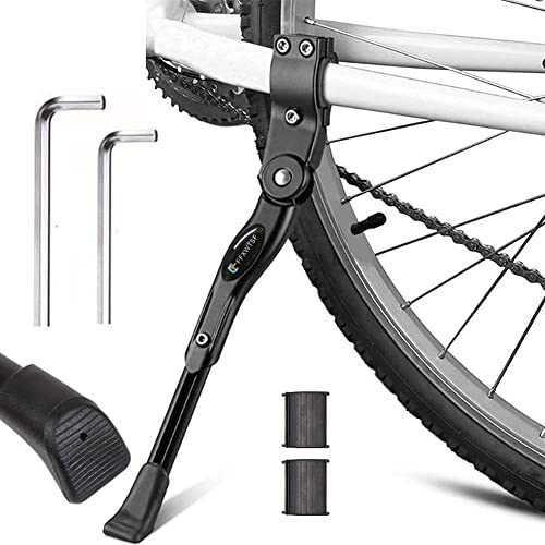 """Adjustable Aluminium Alloy Bike Bicycle Kickstand Side Fit for 20/"""" 24/"""" 26/"""" Black"""