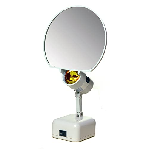 Floxite 7 Magnifying 8x Lamp Set, Floxite 10x Lighted Travel And Home Mirror