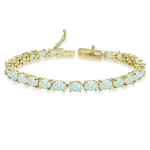Details about  /7x5 mm Oval Cut Natural Tourmaline Gemstone Sterling 925 Silver Tennis Bracelet