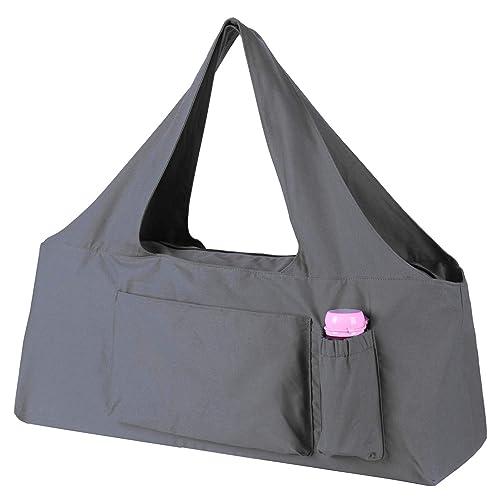 Yoga Mat Bag Exercise Carrier Cotton Tote Adjustable Strap Full Zip Shoulder Bag