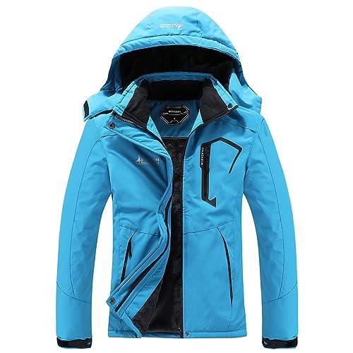 Buy MOERDENG Women's Waterproof Ski Jacket Warm Winter Snow Coat Mountain Windbreaker Hooded Raincoat Jacket Online in Turkey. B08FWN711T