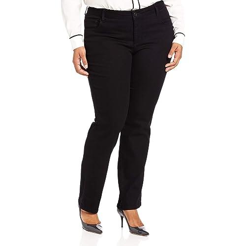 Buy Lee Women's Plus Size Instantly Slims Classic Relaxed Fit Monroe Straight Leg Jean Online in Turkey. B07DK4GP3R