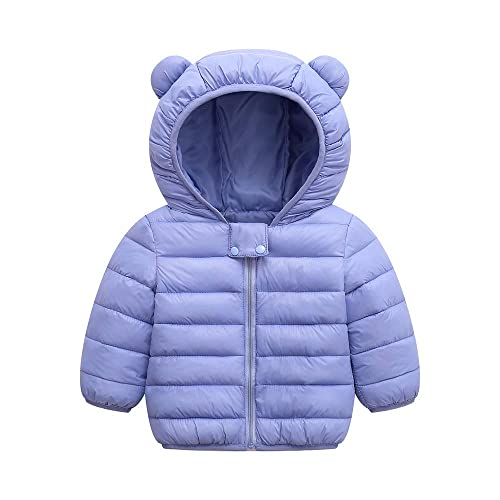 Kids Baby Boys Girls Winter Warm Cotton Coat Kids Outwear Hoodie Jacket Coat