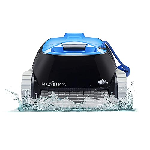 Buy Dolphin Nautilus Cc Robotic Pool Vacuum Cleaner Ideal For Above In Ground Swimming Pools Up To 33 Feet Powerful Suction To Pick Up Small Debris Easy To Clean Top