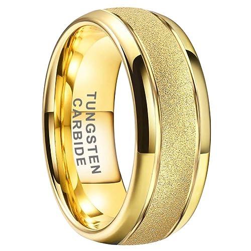 8mm Dome High Polished Wedding Band 10K Yellow Gold