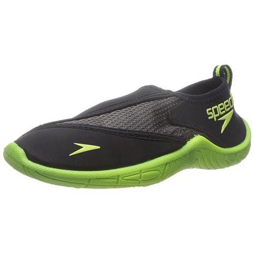 Speedo Surfwalker Pro Water Shoe Kids Size XL 11-12 Grey Gray Shoes NWT