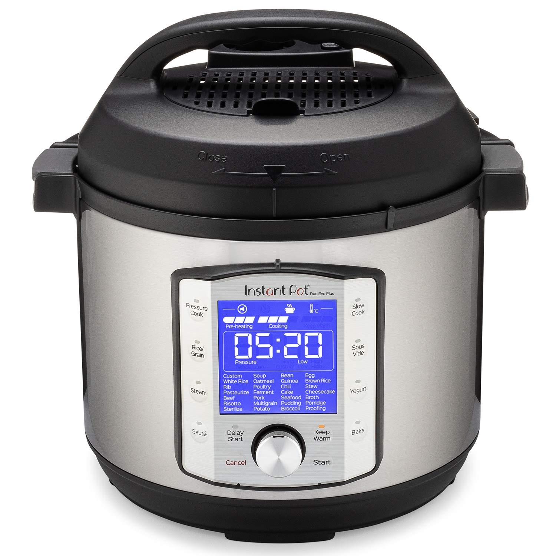 Instant Pot Duo Evo Plus 9 In 1 Electric Pressure Cooker Slow Cooker Rice Cooker Grain Maker Steamer Saute Yogurt Maker Sous Vide Bake