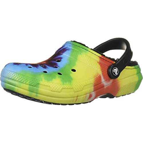 Crocs Classic Lined Tie Dye Clog Unisex ClogsSlippersgarden shoes NEW