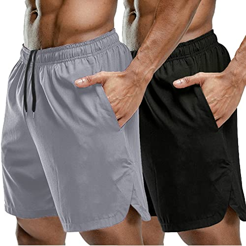 Men/'s Quick Dry Polyester Sport Sweat Pants Gym Athletic Slim Fit Lounge Shorts