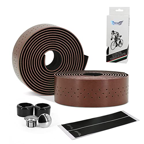 Details about  /Bicycle Handlebar Tape Road Bike PU Leather Perforated Belt Breathable Soft Bike