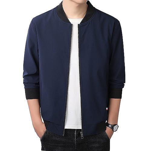 Mens Fall//Spring Basic Jacket Lightweight Flight Bomber Coat Slim Fit Sportswear