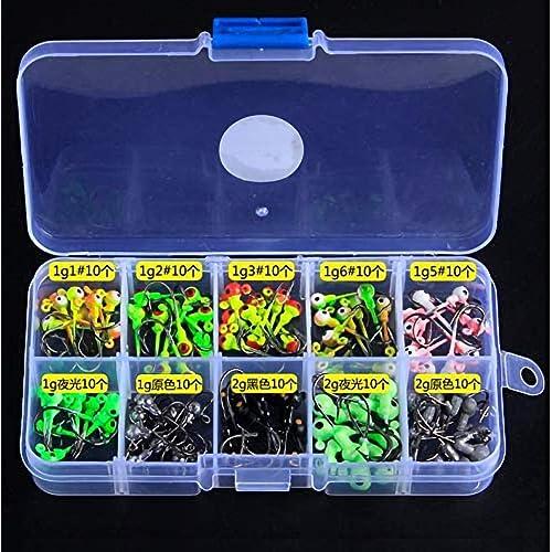 Lure Lead Head Hooks Jigs Strong #1~#10 100pcs//Box Multicolor Single Hook Useful