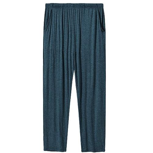 Details about  /MoFiz Men/'s Pajama Pants Ultra Soft Modal PJ Bottom Jersey Knit Pajama Pants//Lou