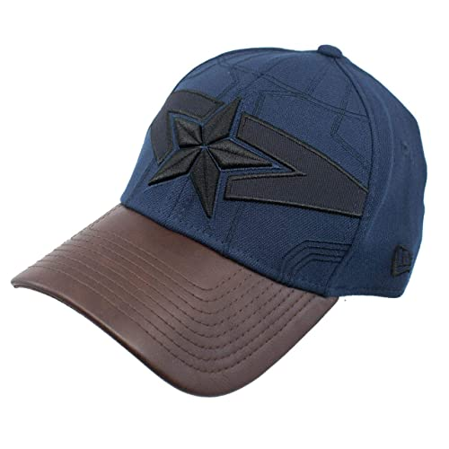 All New Captain America Armor 39Thirty Flex Fitted New Era Hat Blue