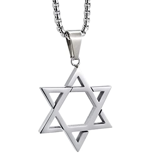 Details about  /White Gold On Real Silver Hamsa Hand Star Of David Custom Spinner Pendant+Chain