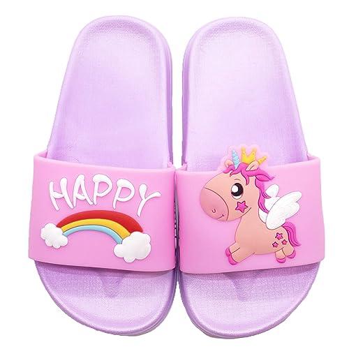 Children/'s Kids Girls Sequin Sliders Holiday Summer Pool Shoes Sandals Size 11-5