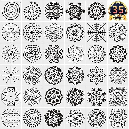13 Paket Mandala Noktali Sablonlar Sablon Mandala Nokta Kaliplari