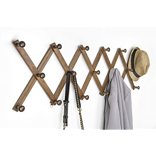 Humia Accordion Style Expandable, Accordion Style Expandable Wall Wooden Coat Rack