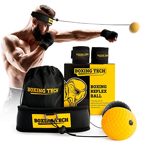 Fight Ball Reflex Boxing Trainer Training Speed Punch Head Band String Balls UK