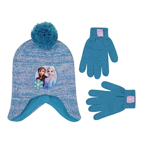 BNWT Disney Parks Frozen Elsa and Olaf Toddler Girls beanie Hat /& Gloves Blue