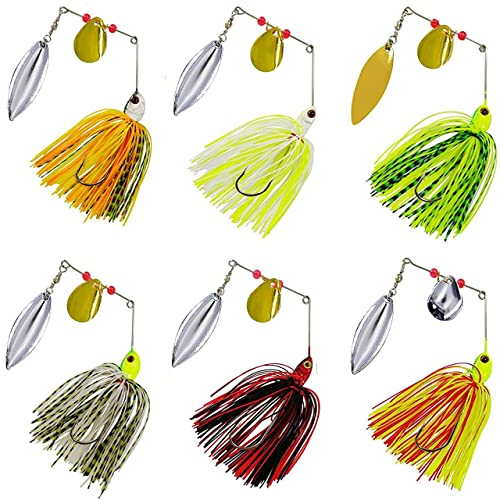 10 Lures 1//2oz Custom Unpainted ProSpin Spinnerbait Spinner Heads Bass Pike