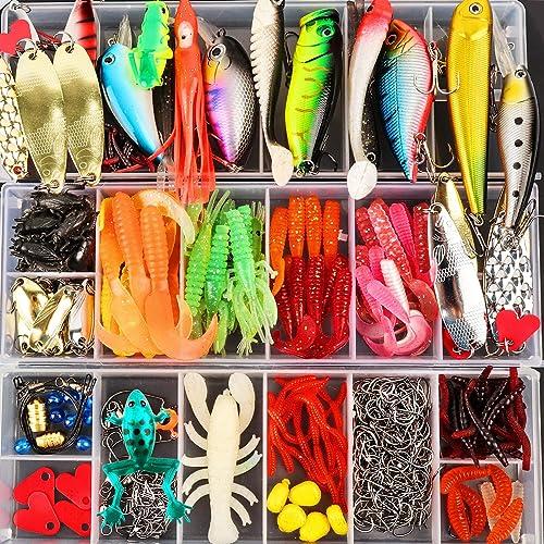 1pcs Fishing Topwater Lures Fishing Lure Rotating Tail TI Tackle Pike Bait I7U4
