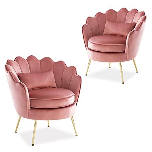 Golden Metal Legs Makeup Chairs, Modern Living Room Chairs