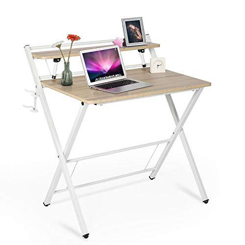 Folding Desk For Small Spaces 32, Portable Folding Computer Desk Laptop Table Workstation Furniture