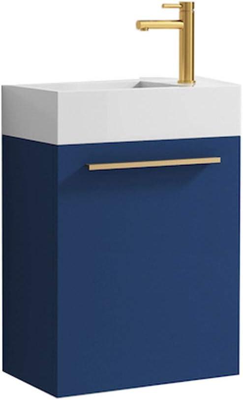 18 Inch Navy Blue Small Bathroom Vanity, Small Bathroom Vanity Sinks