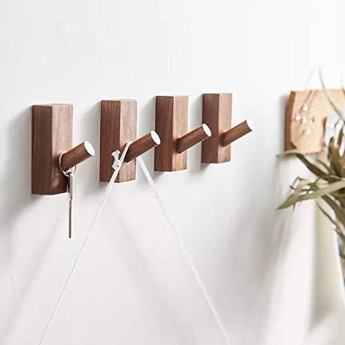 Homedo Wood Wall Hooks Hat Rack, Coat Racks Wall Mounted Decorative