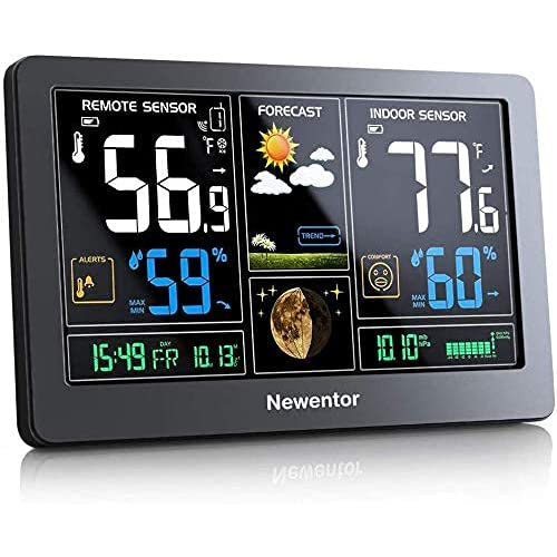 Newentor Weather Station Wireless, Best Rated Atomic Clock With Indoor Outdoor Temperature