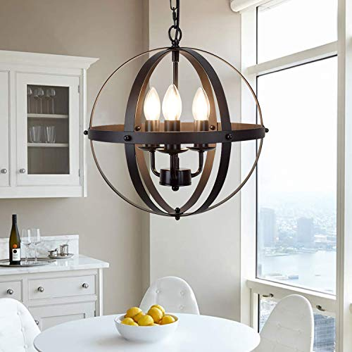 Ganeed Pendant Light Industrial, What Size Light Fixture For Dining Room Table